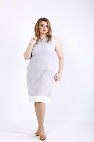 Фото Світло сіра сукня без рукавів   01175-2