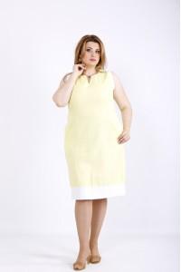 Фото Желтое легкое летнее платье | 01175-3