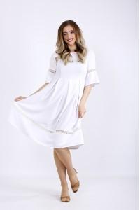 Фото Нарядное летнее белое платье | 01176-1