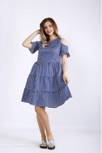 Фото Синее платье с пышной юбкой | 01177-1