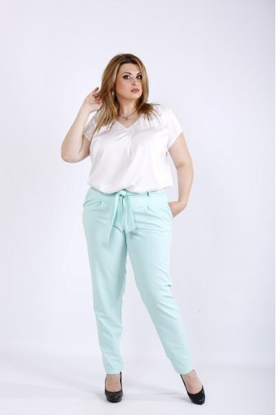 Фото Мятные легкие брюки | b056-2