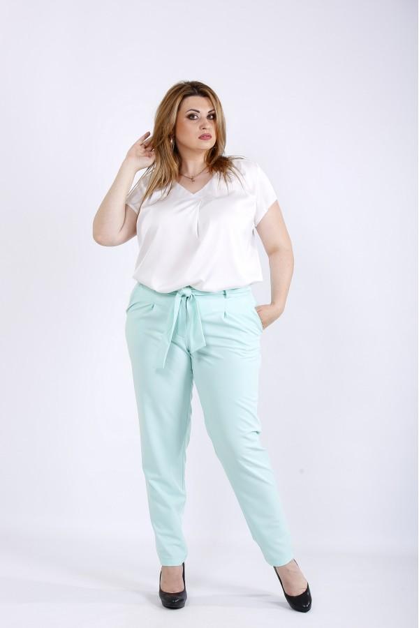 Фото М'ятні легкі брюки | b056-2