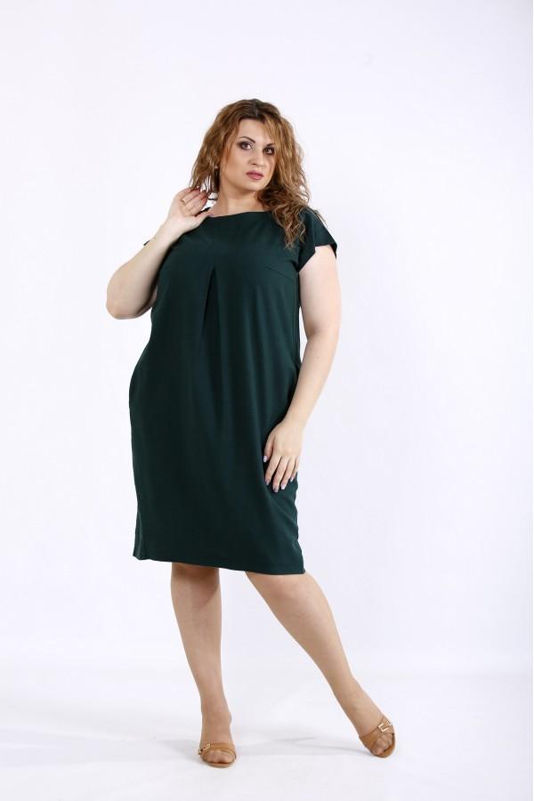 Фото Літня зелена сукня з льону | 01174-2