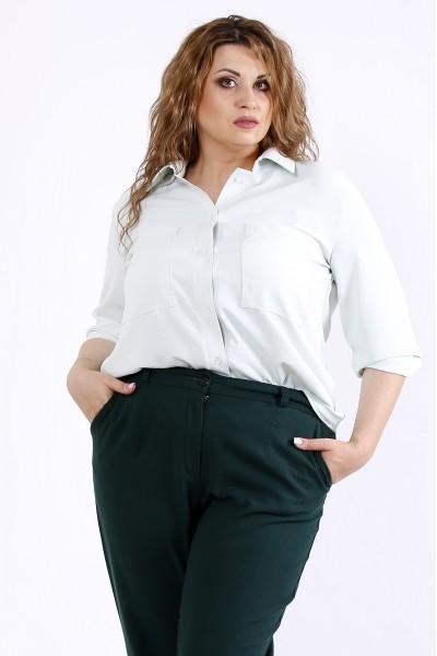 Фото Светлая легкая блузка шалфей | 01181-3