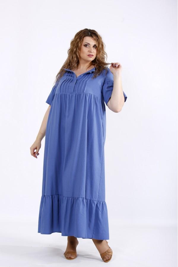 Фото Синє джинсове плаття | 01183-2