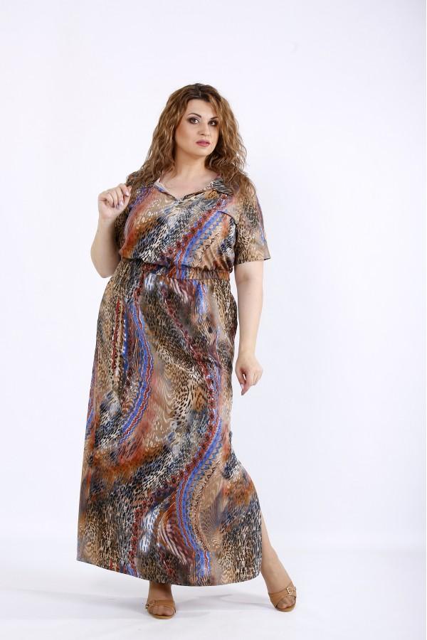 Фото Коричнева довга сукня | 01190-3