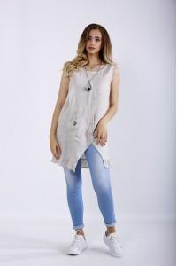 Фото Летняя блузка-туника из льна | 01198-1