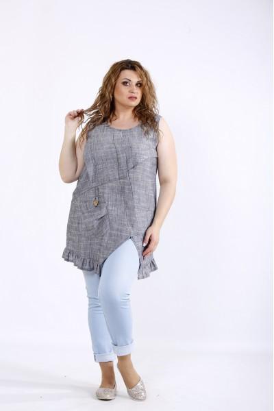 Фото Асимметричная блузка-туника | 01198-2