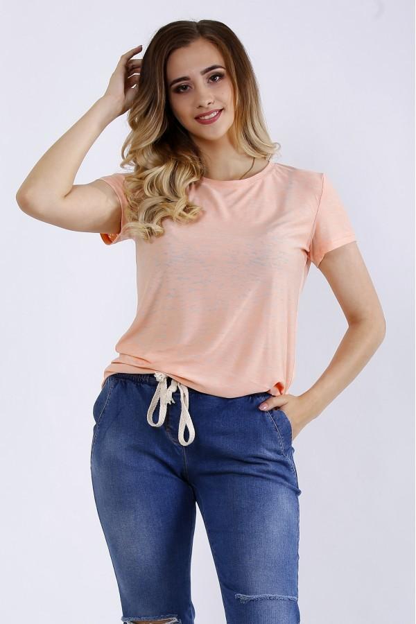 Фото Персиковая футболка | 01201-1
