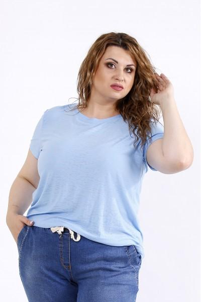 Фото Голубая стрейчевая футболка | 01201-2