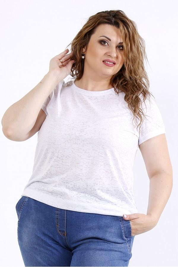 Фото Белая удобная футболка | 01201-3