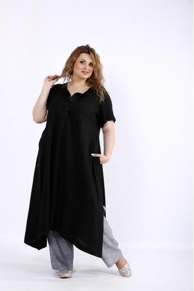 Фото Льняной легкий комплект: туника и штаны | 01203-2