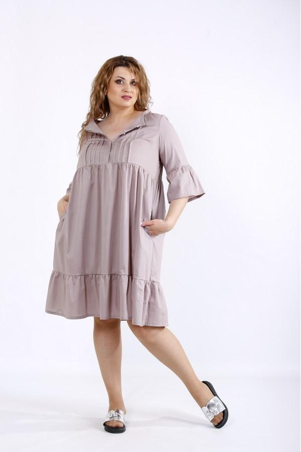 Фото Бежева сукня до коліна | 01206-2