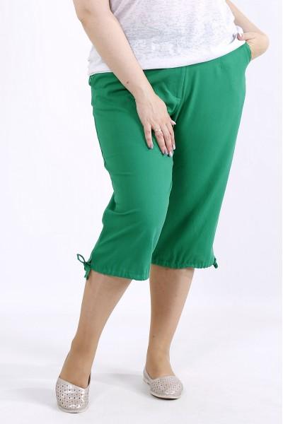 Фото Зеленые легкие капри | b060-4