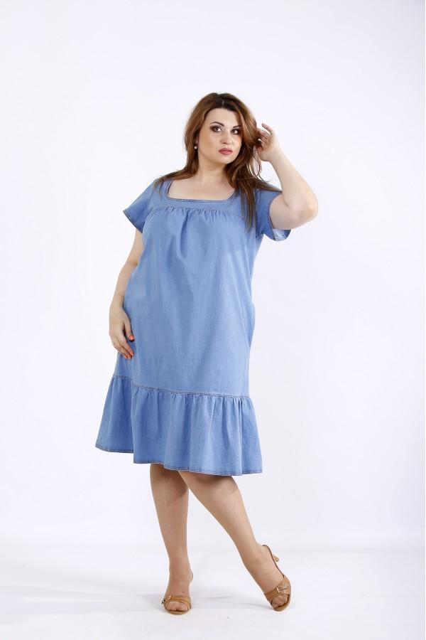 Фото Джинсовое светлое платье | 01210-1