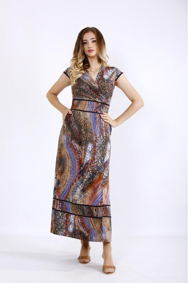 Фото Красивое коричневое платье в пол | 01213-1