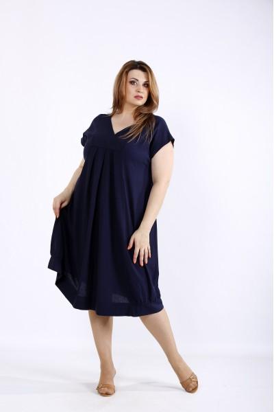 Фото Синє плаття з льону | 01214-2