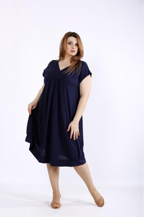 Фото Синее платье из льна | 01214-2