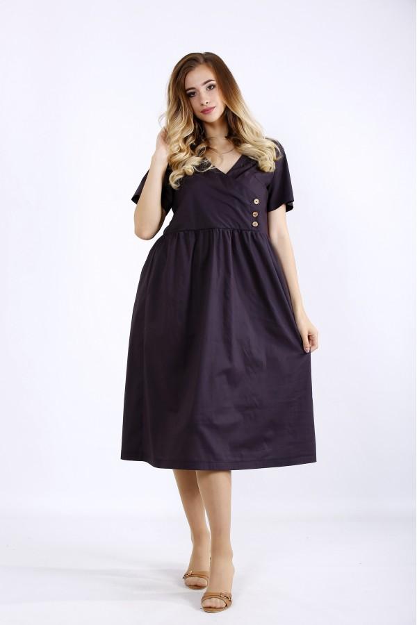 Фото Темне плаття з пишною спідницею | 01217-1