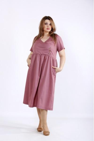 Фото Бисквитное платье ниже колен | 01217-3