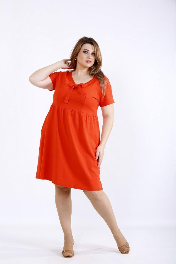 Фото Коралловое летнее платье | 01219-2