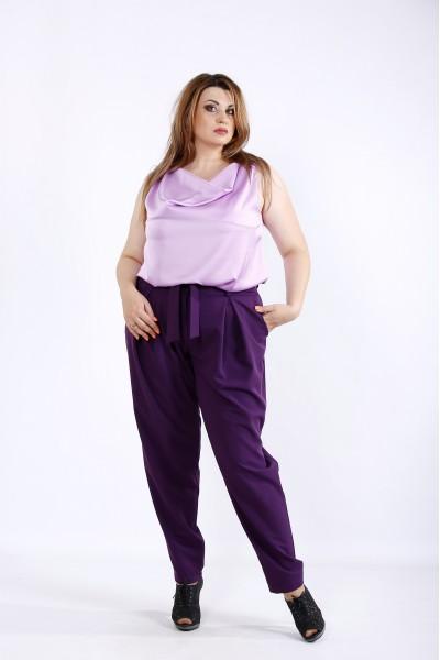Фото Фиолетовый костюм: брюки и блузка | 01220-2
