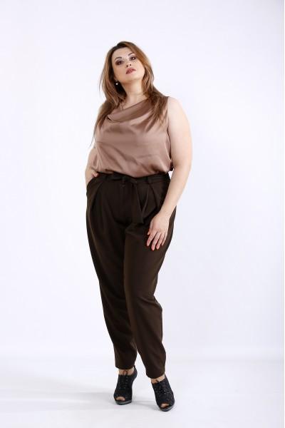 Фото Шоколадный комплект: блузка и брюки | 01220-3