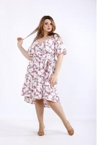 Фото Красивое летнее платье с красными цветами | 01223-1