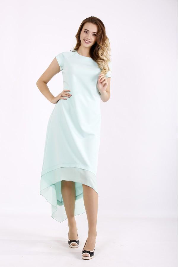Фото Мятное платье с шифоном | 01230-1