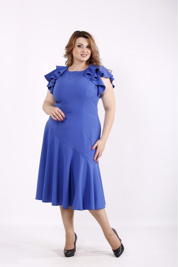 Фото Асимметричное платье электрик | 01231-2