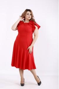 Фото Алое ошатне плаття | 01231-3