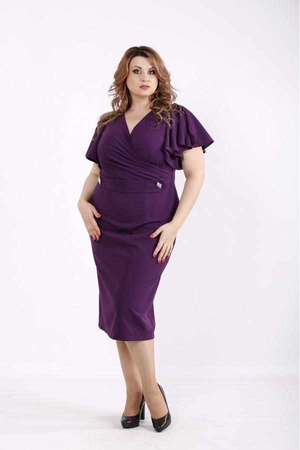 Фото Фиолетовое платье летучая мышь | 01232-2
