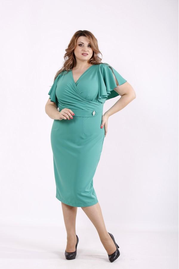 Фото Светло зеленое платье летучая мышь | 01232-3