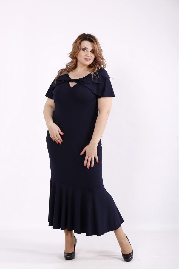 Фото Темно синя сукня максі | 01233-2