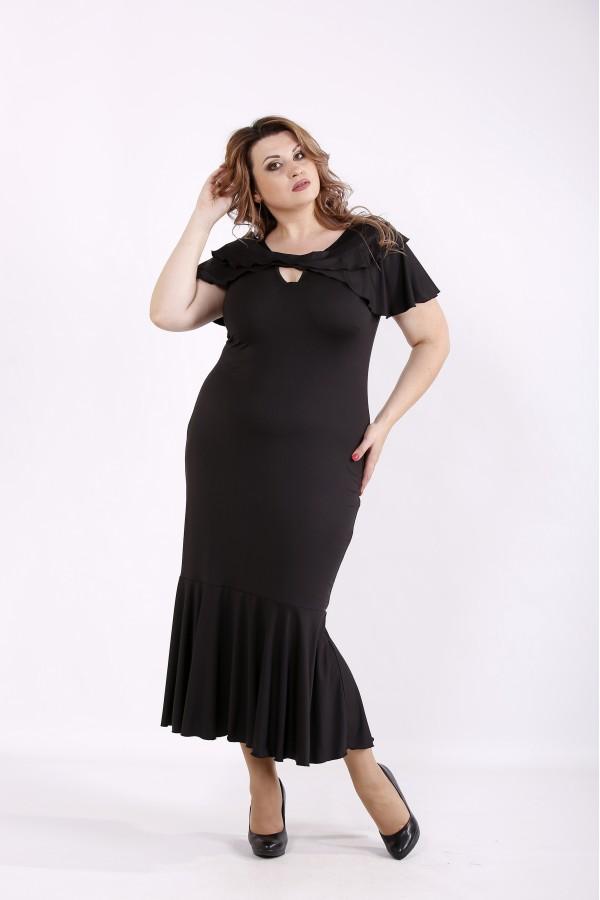 Фото Черное облегающее платье | 01233-3
