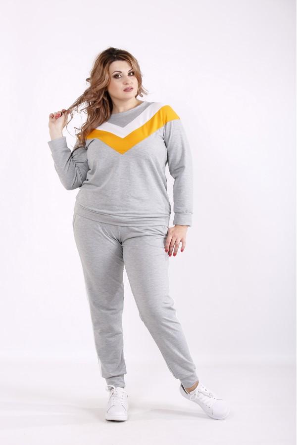 Фото Спортивный костюм с желтой полоской | 01235-3