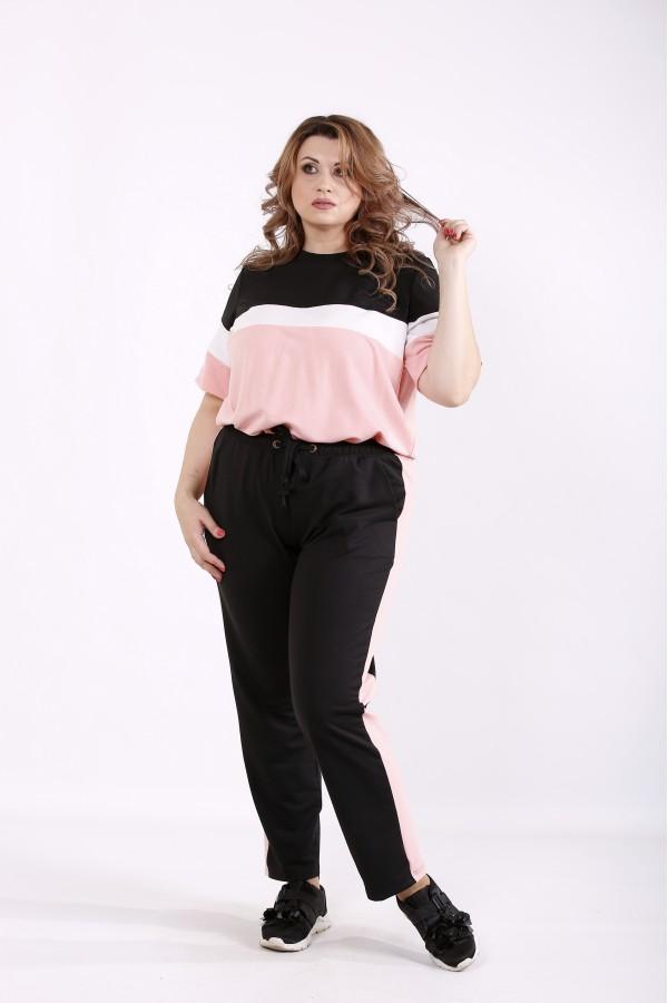 Фото Розовый удобный спортивный костюм   01237-3