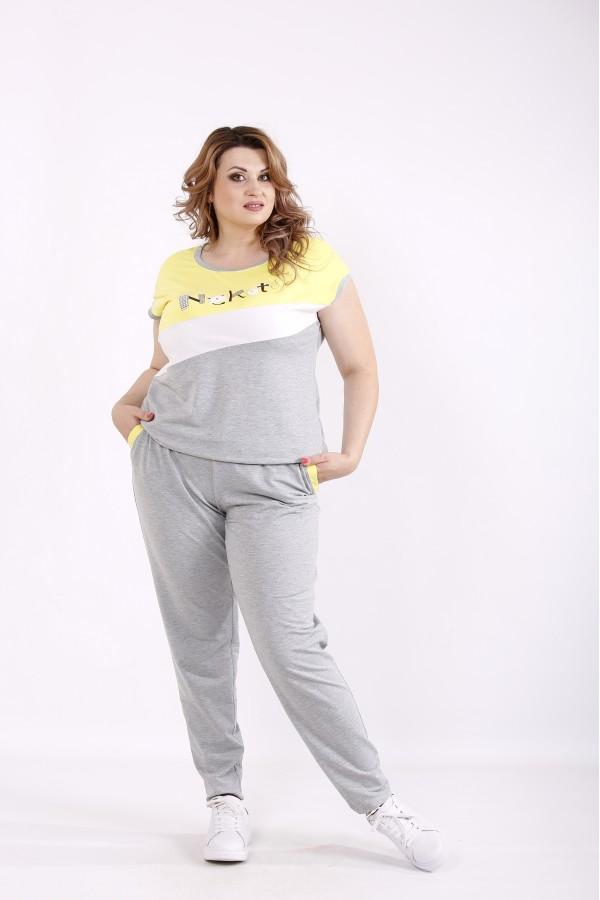 Фото Жовто-сірий спортивний костюм | 01239-2