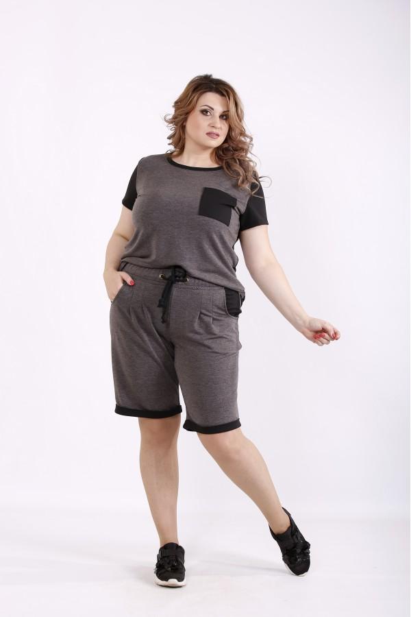 Фото Темно-сірий літній спортивний костюм | 01240-3