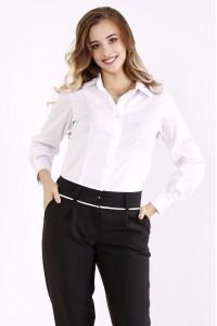 Фото Белая классическая блузка   01247-1