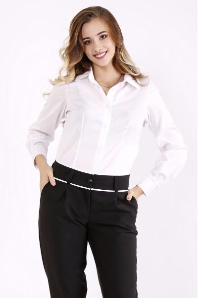 Фото Белая классическая блузка | 01247-1