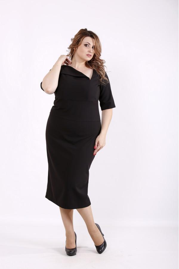 Фото Чорне елегантне плаття | 01248-1