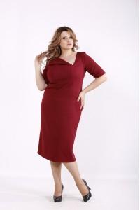 Фото Бордовое стильное платье | 01248-2