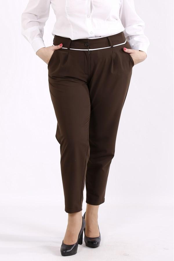 Фото Коричневые удобные брюки | b064-3