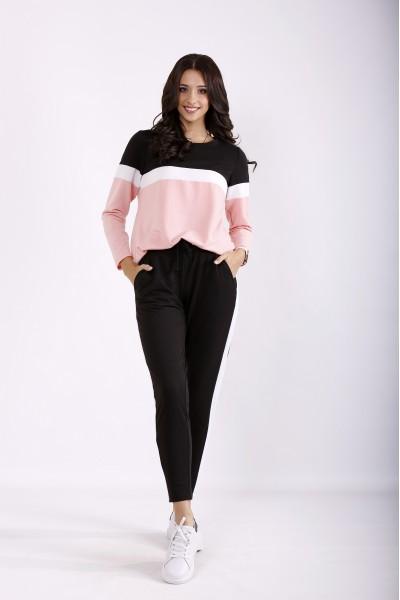 Фото Розовый спортивный костюм | 01249-1