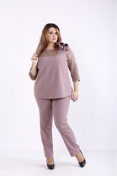 Фото Бисквитный костюм: блузка и брюки | 01255-2