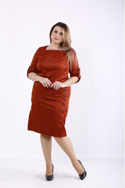 Фото Платье миди оттенка виски | 01257-1