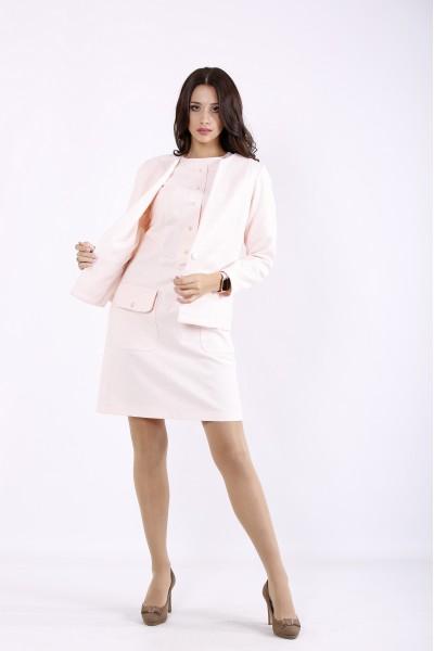 Фото Розовый костюм: платье и жакет | 01266-1