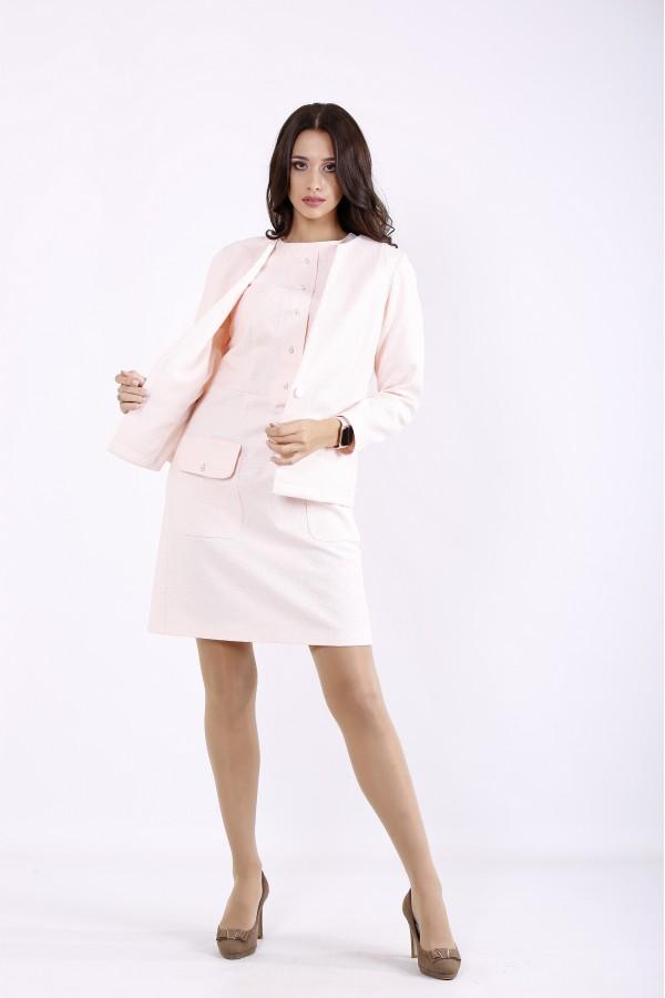Фото Рожевий костюм: сукня і жакет | 01266-1