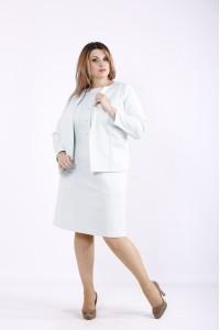 Фото Костюм: платье и жакет мятного цвета | 01266-2